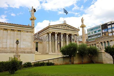 facade of athens academy greece