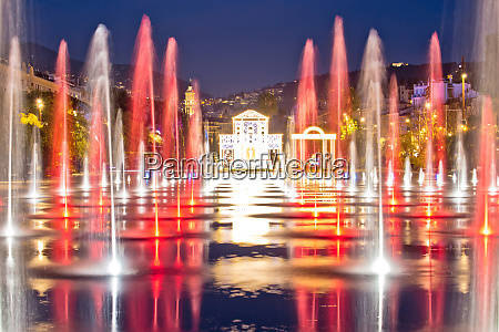 city of nice cityscape and fontaine