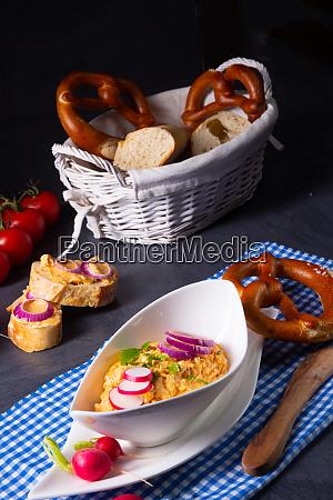 the perfect bavarian obazda with radishes