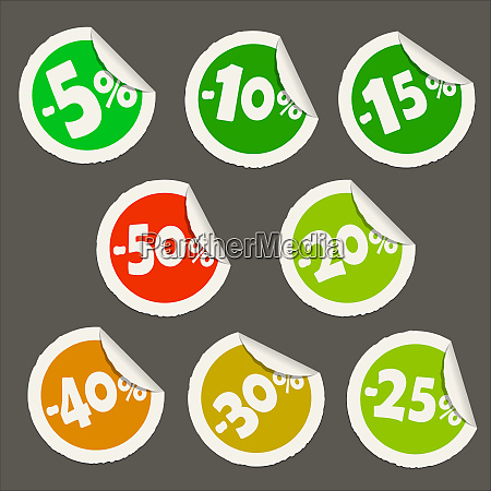 discount sticker icons