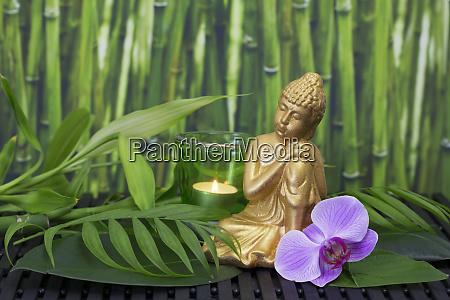 zen style still life with buddha