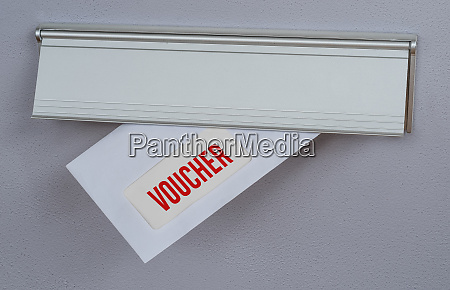 a letter in a mail slot