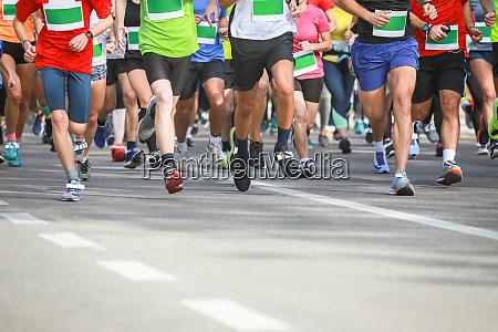 runners at half marathon event