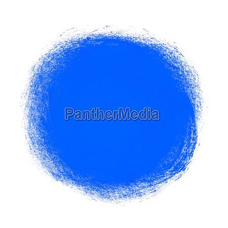 isolated blue paintbrush circle hand