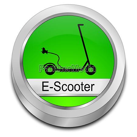 green e scooter button 3d