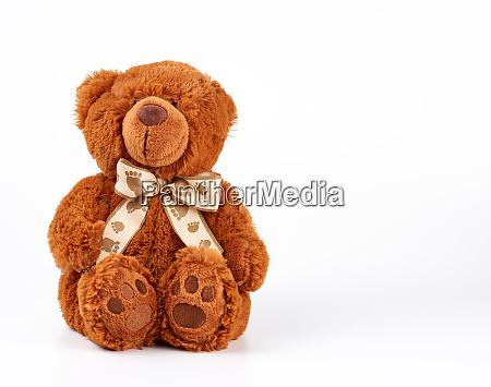 brown teddy bear with a bow