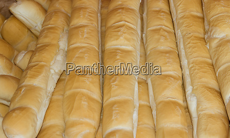 background of baked wheat flour breads