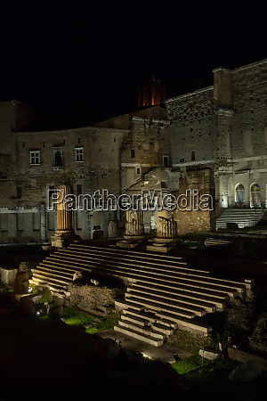 forum of augustus night scene italian