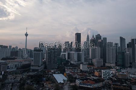 aerial view of kuala lumpur city