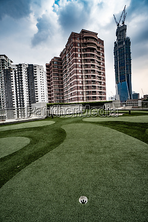 golf course on the roof of