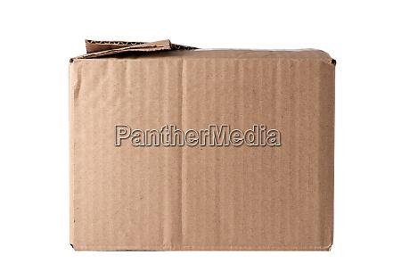 closed brown rectangular box of cardboard