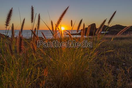 sunset along the shoreline at himalaya