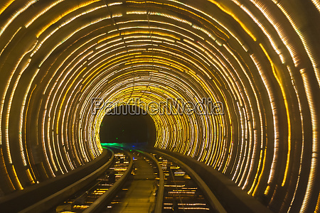 bund sightseeing tunnel pudong shanghai china
