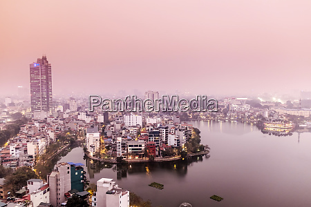 view of the central hanoi skyline