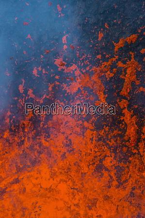 active lava eruption on the tolbachik
