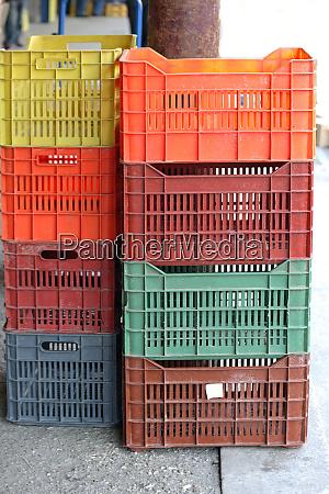 plastic crates stack