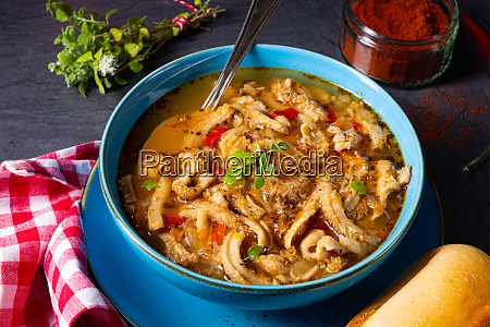flaczki fresh and spicy tripe