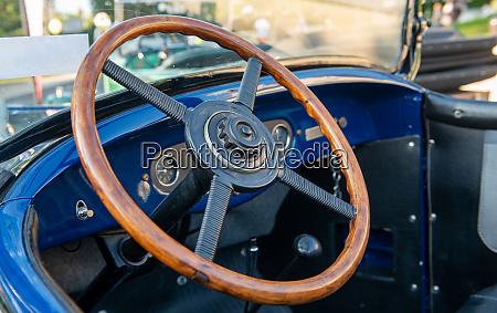 vintage car detail antique car steering
