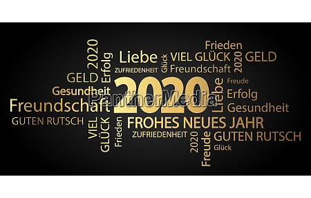 word cloud with new year 2020