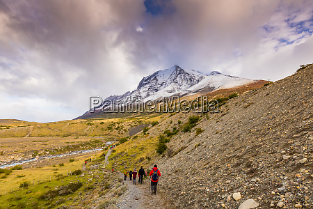 hiking through torres del paine national