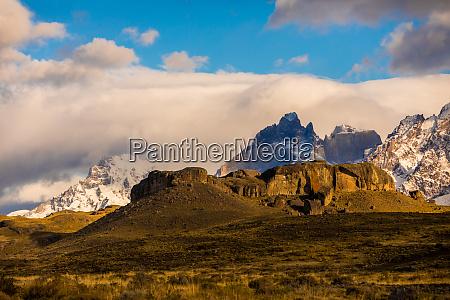 beautiful scenery in torres del paine