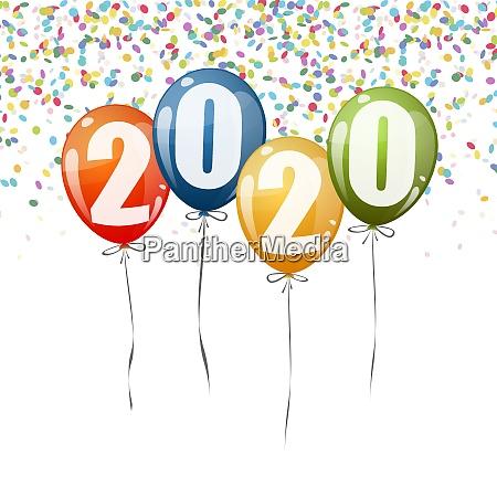 new year 2020 balloons