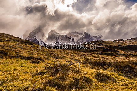 beautiful scenery in torres del paine
