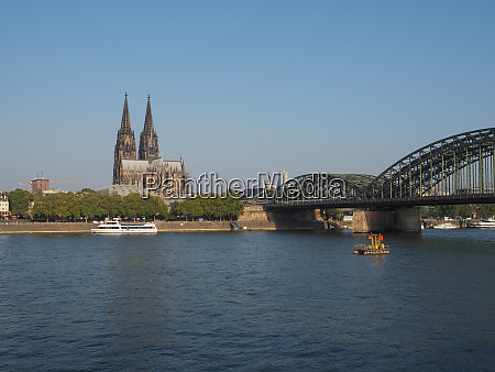 st peter cathedral and hohenzollern bridge