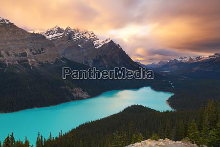 peyto lake at sunset banff national