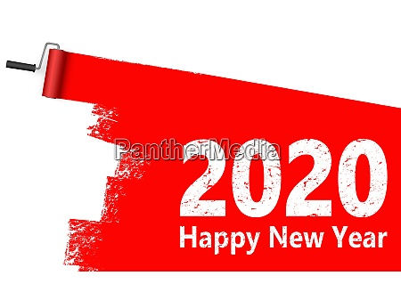 paint roller concept new year 2020