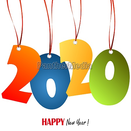 hanging numbers new year 2020