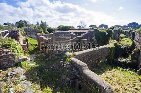 roman houses ostia antica archaeological site