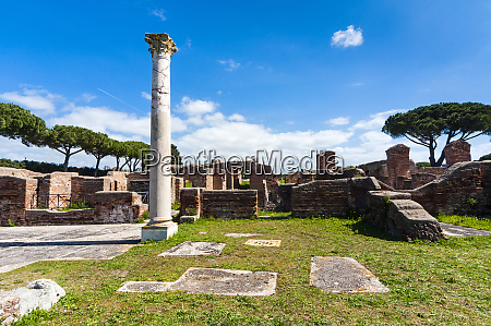 terme del mitra ostia antica archaeological