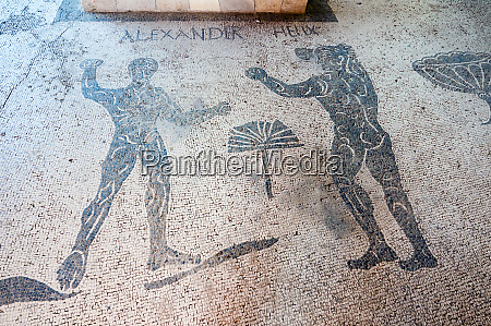 mosaics caupona di alexander e helix