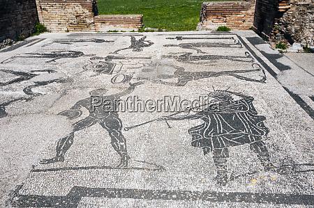 mosaics terme di porta marina ostia