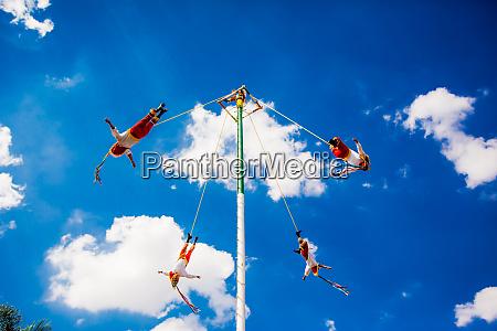 voladores the flying men tlaquepaque mexico