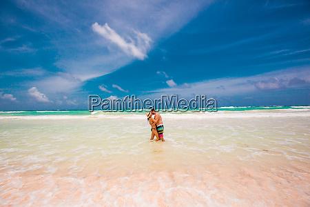 romantic couple on the beach of
