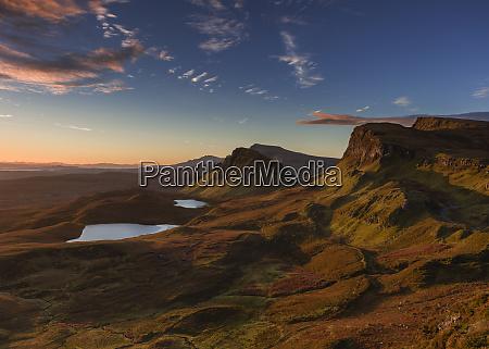 the trotternish ridge at dawn looking