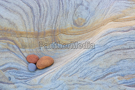 colourful patterns created by sea erosion