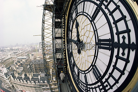 close up of the clock face
