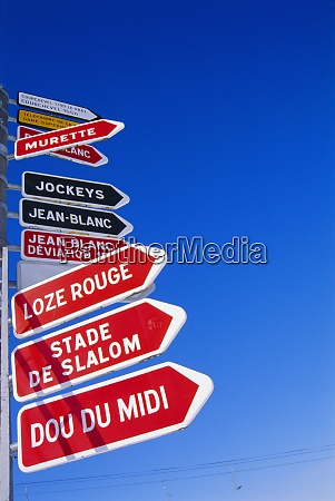 ski sign courchevel france
