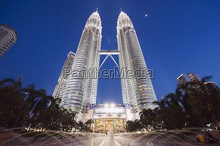 petronas towers kuala lumpur malaysia southeast
