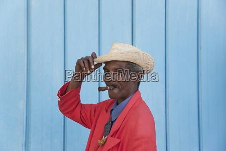 cuban man with cigar havana cuba