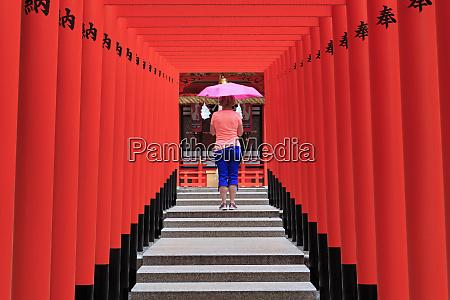 ikuta jinja shrine kobe city honshu