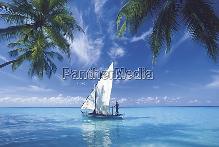 traditional dhoni maldives indian ocean asia