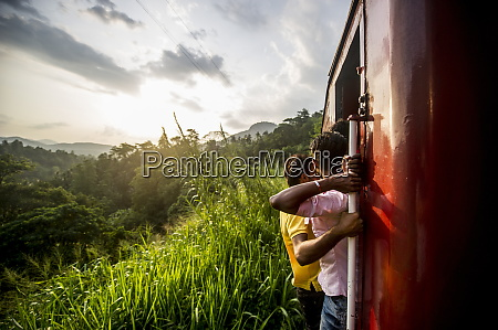 riding the train in sri lanka