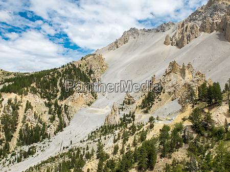 road climbing to col dizoard france