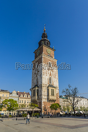 town hall tower in the main