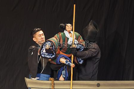 nihon bunraku puppet theatre performance tokyo