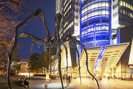 mori tower building manan spider sculpture